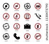 set of 16 icons such as weapons ...