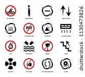 set of 16 icons such as alarm ...