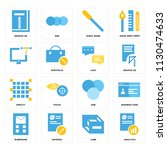 set of 16 icons such as...   Shutterstock .eps vector #1130474633