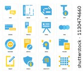 set of 16 icons such as opacity ...