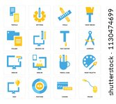 set of 16 icons such as mouse ...