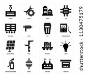 set of 16 icons such as package ...