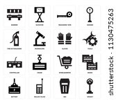 set of 16 icons such as weight  ...
