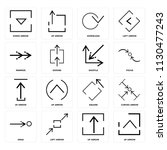 set of 16 icons such as up...