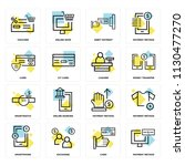 set of 16 icons such as payment ... | Shutterstock .eps vector #1130477270