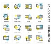 set of 16 icons such as payment ... | Shutterstock .eps vector #1130477429