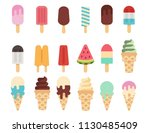 ice cream collection  vector... | Shutterstock .eps vector #1130485409