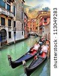 beautiful romantic venetian... | Shutterstock . vector #113049283