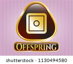shiny badge with bank safe... | Shutterstock .eps vector #1130494580
