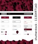 dark pink  red vector ui ux kit ...
