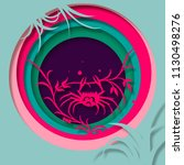 paper art carve to crab....   Shutterstock .eps vector #1130498276