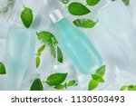 ice and mint leaves the taste... | Shutterstock . vector #1130503493