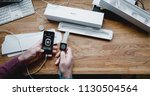 paris  france   apr 12 2018 ... | Shutterstock . vector #1130504564