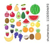 various fruit collection.... | Shutterstock .eps vector #1130504693