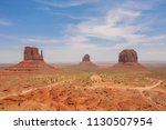 east and west mitten buttes ... | Shutterstock . vector #1130507954