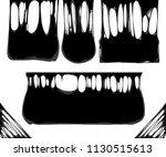 creepy slime banners | Shutterstock .eps vector #1130515613