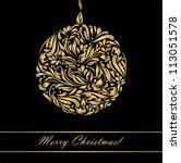 black beautiful vintage swirl... | Shutterstock .eps vector #113051578