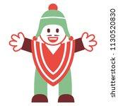 vector cartoon peruvian man... | Shutterstock .eps vector #1130520830