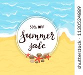 lettering summer sale on round... | Shutterstock .eps vector #1130524889