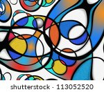 High Resolution Abstract of many shapes - stock photo