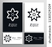 mandala symbol  floral... | Shutterstock .eps vector #1130529209