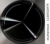 digitally rendered circular...   Shutterstock . vector #1130533979