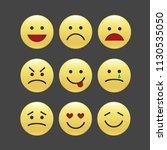 set of smile icons. emoji.... | Shutterstock .eps vector #1130535050