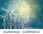 solar wind turbine natural... | Shutterstock . vector #1130542613