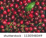 fresh sweet cherry texture ... | Shutterstock . vector #1130548349