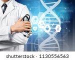 dna and genetics research... | Shutterstock . vector #1130556563