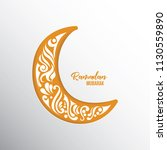 ramadan mubarak background.... | Shutterstock .eps vector #1130559890