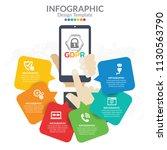 general data protection... | Shutterstock .eps vector #1130563790