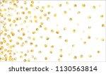 big golden confetti. festive... | Shutterstock .eps vector #1130563814