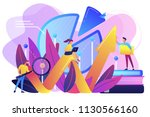 people recording analytics data ... | Shutterstock .eps vector #1130566160