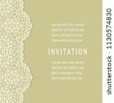 invitation or card templates... | Shutterstock .eps vector #1130574830