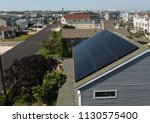 roof with solar panels   Shutterstock . vector #1130575400