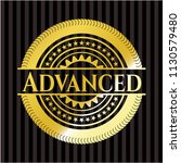 advanced golden emblem or badge | Shutterstock .eps vector #1130579480