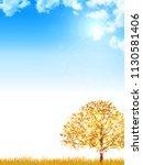 autumn leaves maple autumn...   Shutterstock .eps vector #1130581406