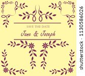 wedding invitation template.... | Shutterstock .eps vector #1130586026