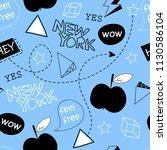 line drawing  vector new york...   Shutterstock .eps vector #1130586104