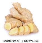 ginger isolated on white... | Shutterstock . vector #1130598353