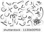 hand drawn arrows set on a... | Shutterstock .eps vector #1130600903