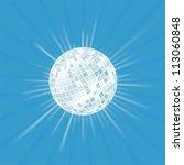 disco ball vector background... | Shutterstock .eps vector #113060848