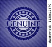 genuine emblem with jean high... | Shutterstock .eps vector #1130611670