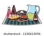 picnic food design   Shutterstock .eps vector #1130613056