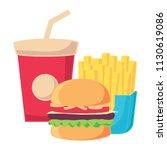 fast food design | Shutterstock .eps vector #1130619086