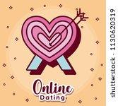 online dating desing | Shutterstock .eps vector #1130620319