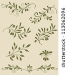 vector vintage decorative olive ... | Shutterstock .eps vector #113062096