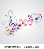 vector music background with... | Shutterstock .eps vector #113062108