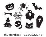 graphic halloween  vector | Shutterstock .eps vector #1130622746